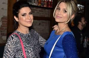 Flávia Alessandra e Fernanda Paes Leme prestigiam festa de grife de bolsas