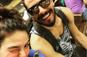 Isis Valverde comemora um ano de namoro com Uriel Del Toro, em NY: 'Muito amor'