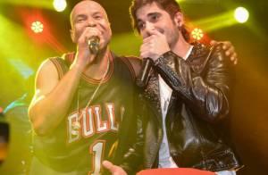 Fiuk canta com Buchecha em São Paulo e Sophia Abrahão também marca presença