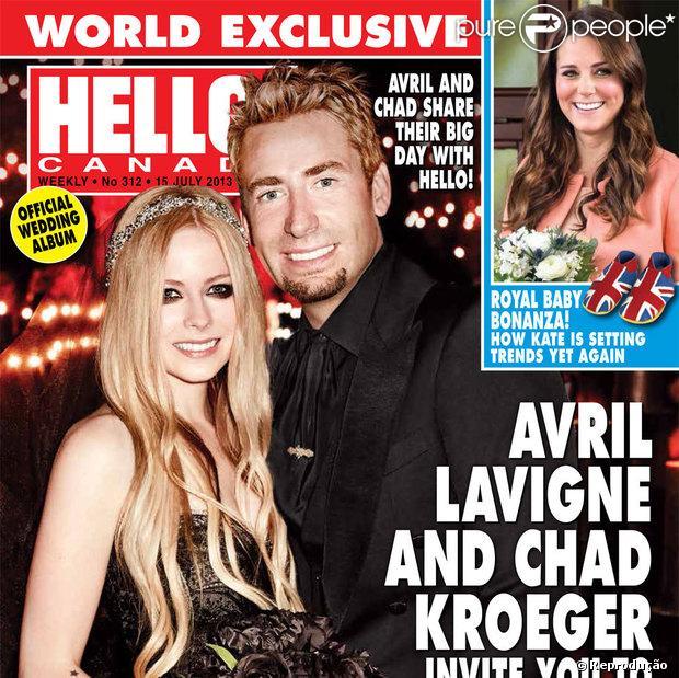 """O casamento de Avril Lavigne é a capa da revista 'HELLO! Canada"""""""