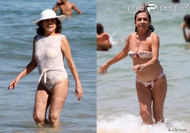 Betty Faria causou polêmica ao ir à praia com um biquíni. Aos 72 anos, a atriz conta que ficou chateada com as críticas e apareceu de maiô na praia do Leblon, neste domingo, 7 de julho de 2013
