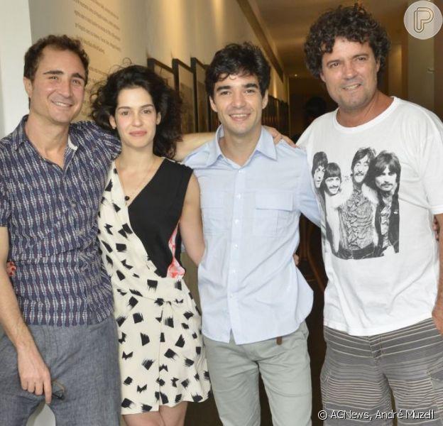 João Miguel, Maria Flor, Caio Blat e Felipe Camargo marcam presença no lançamento da microssérie 'Xingu', no Rio, em 10 de dezembro de 2012