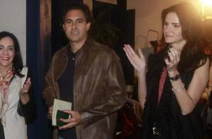 Lisandra Souto vai à festa com Gustavo Fernandes, novo namorado da atriz