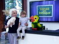 Ana Maria Braga apresenta sua nova cadela ao lado do neto, Bento: 'Paçoca'