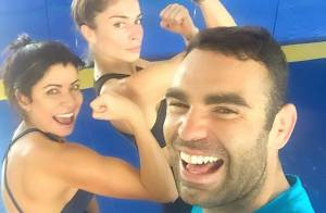 Grazi Massafera comemora treino de boxe após emagrecer para novela: 'Voltei'