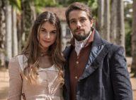 Novela 'Além do Tempo': Felipe e Lívia vão juntos para Belarrosa e se beijam