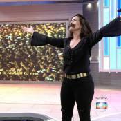 Fátima Bernardes usa bigode para dublar Freddie Mercury na TV: 'Tá coçando'