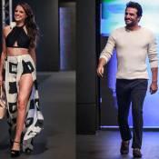 Agatha Moreira exibe boa forma e Rodrigo Lombardi arranca suspiros em evento