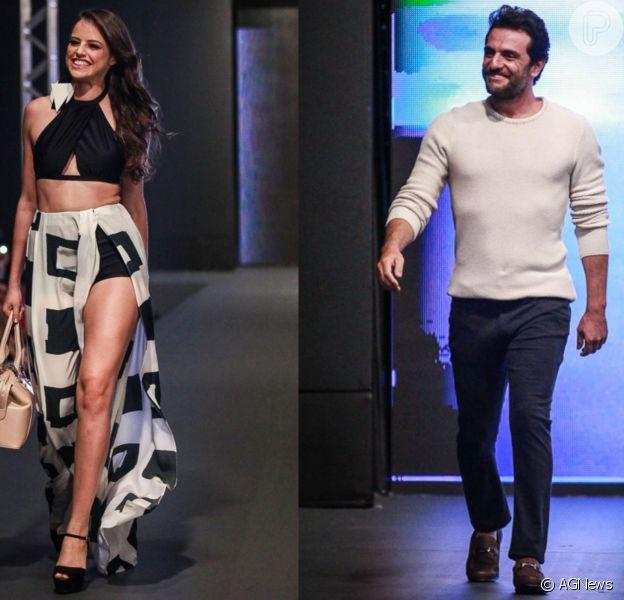 Agatha Moreira e Rodrigo Lombardi, atores da novela 'Verdades Secretas', desfilaram na da 13ª edição do Oscar Fashion Days, na noite desta sexta-feira, 18 de setembro de 2015