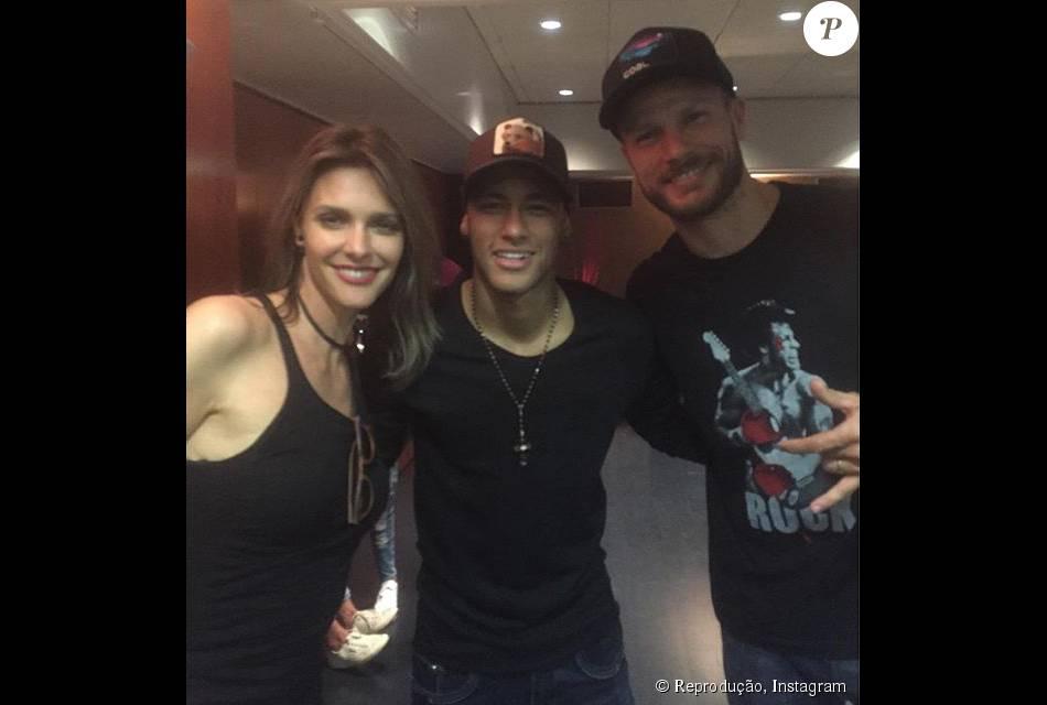 Neymar postou foto ao lado de Rodrigo Hilbert e Fernanda Lima na Espanha