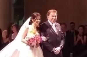 Renata Abravanel, filha caçula de Silvio Santos, se casa em São Paulo. Vídeo!