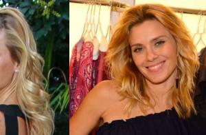 Carolina Dieckmann exibe cabelo mais curto e aposta em pretinho básico em SP