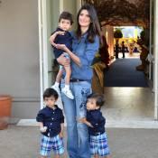 Mãe de trigêmeos, Isabella Fiorentino não quer mais filhos: 'Mudei de ideia'