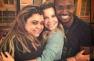 Preta Gil comemora virada do aniversário com Thiaguinho e Fernanda Souza