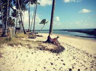 Giovanna Ewbank relaxa em praia após ficar internada: 'Agradeça a Deus sempre!'