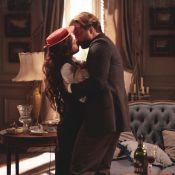 Em 'Lado a lado', Laura (Marjorie Estiano) e Edgar (Fragoso) passam noite juntos