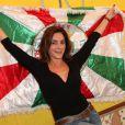 A atriz vai estrear como rainha de bateria no Carnval 2014, desfilando pela Grande Rio