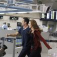 Bruno (Malvino Salvador) e Paloma (Paolla Oliveira) são enganados por Alejandra (Maria Maya) e não conseguem reaver Paulinha (Klara Castanho) no aeroporto, em 'Amor à Vida'