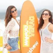 Lívian Aragão grava ao lado de Giulia Costa especial de 'Malhação' em praia