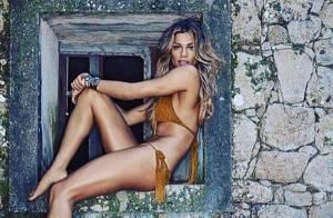 De biquíni, Grazi Massafera mostra boa forma na web e ganha elogio: 'Deusa'