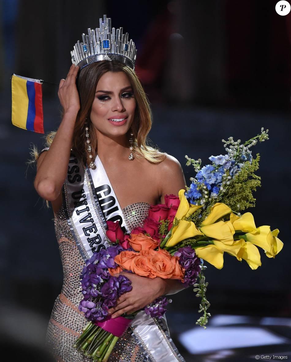 Ariadna Gutierrez desabafa após 'perder' coroa do Miss universo 2015: 'Para sempre sua Miss Universo, Colômbia'