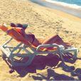 Fernanda Souza postou a foto deitada de biquíni em espreguiçadeira em setembro de 2015