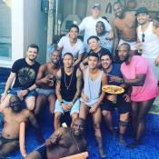 Neymar e Luciano Huck curtem piscina e churrasco na casa de Thiaguinho:'Família'