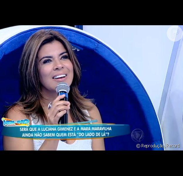 Mara Maravilha participou do programa 'Hora do Faro' neste domingo, 27 de dezembro de 2015 ao lado de Luciana Gimenez