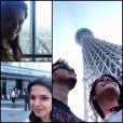 Michel Teló e Thais Fersoza foram conhecer a Tokyo Sky Tree, segunda torre mais alta do mundo, com 634 metros