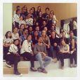 Angélica, sócia no salão de beleza, compartilhou foto da equipe que irá trabalhar no novo empreendimento