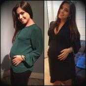 Thaís Fersoza posta foto com barriga de grávida falsa e diz: 'Dá pra ter ideia'