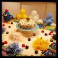 Galinha Pintadinha foi tema escolhido para comemorar os oito meses da menina