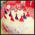 Ao publicar decoração foto da decoração de um ano da filha, Angélica contou que a menina adora uma festinha