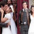 Após tantas idas e vindas, Marcina (Chandelly Braz) e Gibão (Sergio Guizé) se casam, em 'Saramandaia'