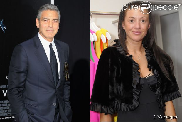 George Clooney estaria vivendo affair com a modelo Monika Jakisic, segundo revista em 2 de setembro de 2013