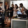 Michel (Caio Castro) usa vestido de Patrícia (Maria Casadevall) para ir trabalhar, em 'Amor à Vida'
