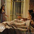 Perséfone (Fabiana Karla) se irrita e expulsa Patrícia (Maria Casadevall) e Michel (Caio Castro) se seu apartamento, em 'Amor à Vida'