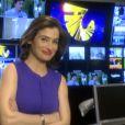 Renata Vasconcellos estreou no 'Fantástico' na noite deste domingo, 6 de outubro de 2013