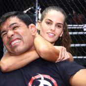 Izabel Goulart treina MMA com Minotauro. 'Ela quase me apagou'
