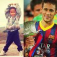 Neymar pequenininho, antes de saber que seria uma estrela do futebol mundial - especial Dia das Crianças, 12 de outubro de 2013