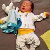 Filha de Paloma Duarte exibe foto do irmão recém-nascido: 'Amor da minha vida'