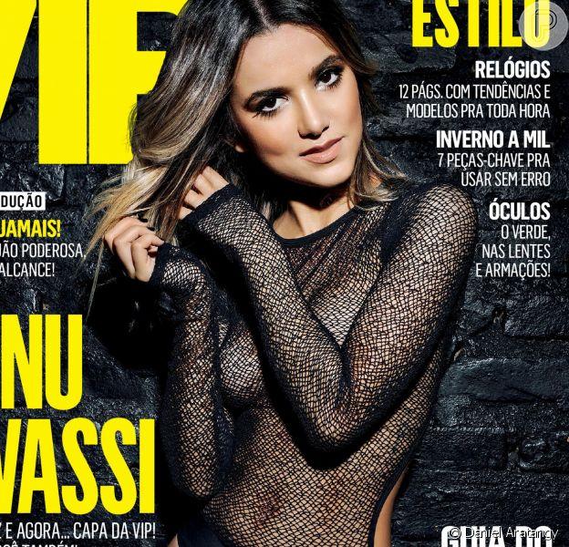 """Manu Gavassi reclama do uso exagerado do Photoshop na capa da revista """"Vip"""" de maio de 2016"""