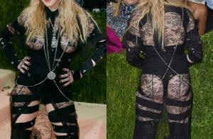 Madonna, de 57 anos, surpreende com bumbum à mostra em look Givenchy no MET Gala