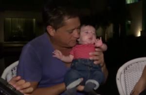 Cantor Leonardo mostra casa e se derrete pelo neto Noah: 'A cara do vovô'