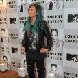 Demi Lovato participou de uma coletiva de imprensa para os jornalistas brasileiros