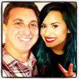 Demi Lovato também gravou uma participação no 'Caldeirão do Hulk' e se encontrou com um fã escolhido por Luciano Hulk