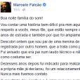 Marcelo Falcão, vocalista da banda 'O Rappa', usou seu Facebook para esclarecer descoberta de que é pai de jovem de 17 anos