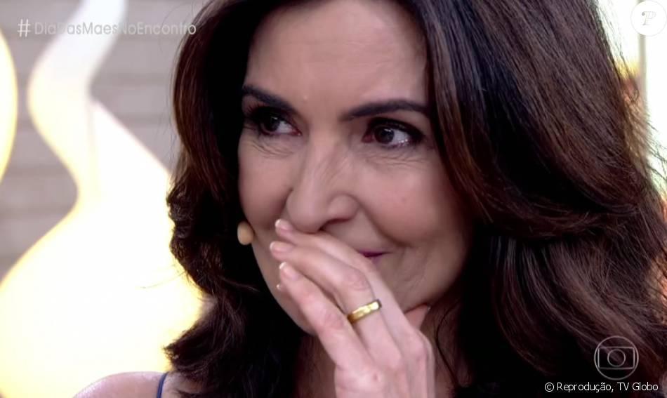 Fátima Bernardes se emocionou ao receber depoimento dos filhos pelo Dia das Mães no 'Encontro' desta sexta-feira, 6 de maio de 2016