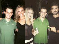 Juliana Paiva e Juliano Laham evitam fotos juntos, mas fã entrega casal em festa