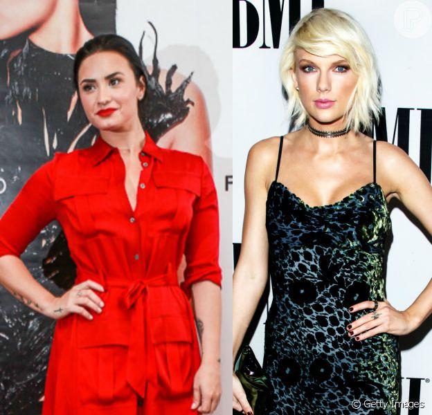 Demi Lovato admite que não se dá bem com Taylor Swift em entrevista nesta quarta-feira, dia 18 de maio de 2016